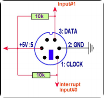 Electrical PS/2 connection