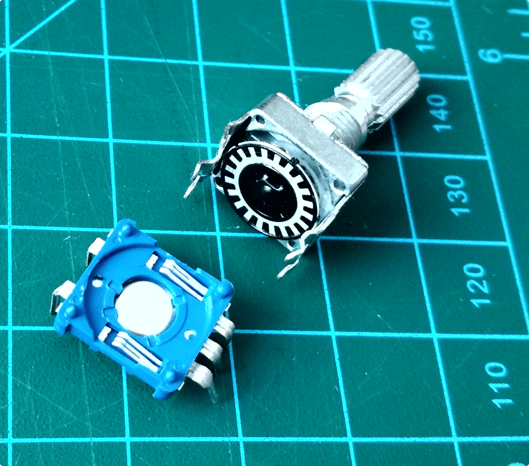 Disassembled rotary encoder